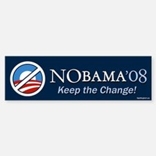 NoBama - Keep the Change! Bumper Bumper Bumper Sticker