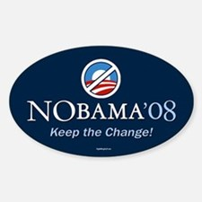 NoBama - Keep the Change! Oval Decal