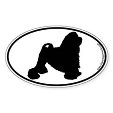 Lowchen SILHOUETTE Oval Decal