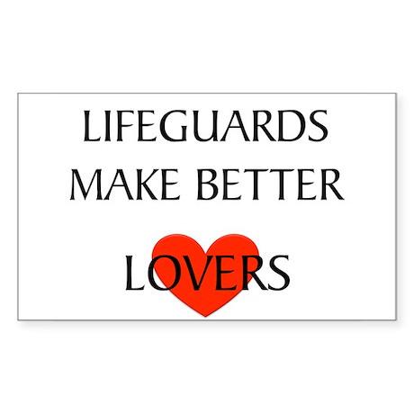 Lifeguard Rectangle Sticker