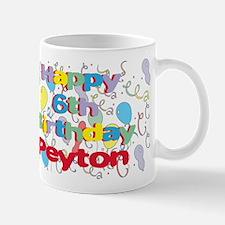 Peyton's 6th Birthday Mug