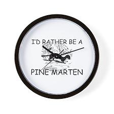 I'd Rather Be A Pine Marten Wall Clock