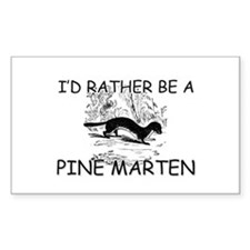 I'd Rather Be A Pine Marten Rectangle Decal