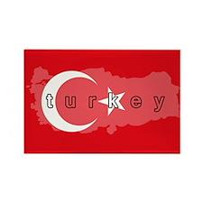 Turkey Flag Extra Rectangle Magnet