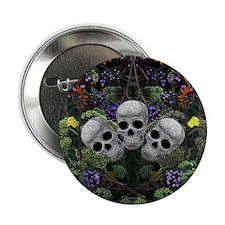 "Skull Garden 2.25"" Button"