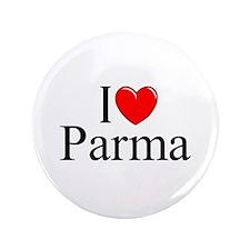 """""""I Love (Heart) Parma"""" 3.5"""" Button"""
