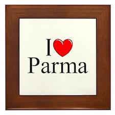 """I Love (Heart) Parma"" Framed Tile"