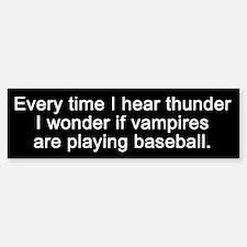 Baseball Vampires Bumper Bumper Bumper Sticker