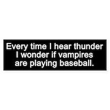 Baseball Vampires Bumper Bumper Stickers