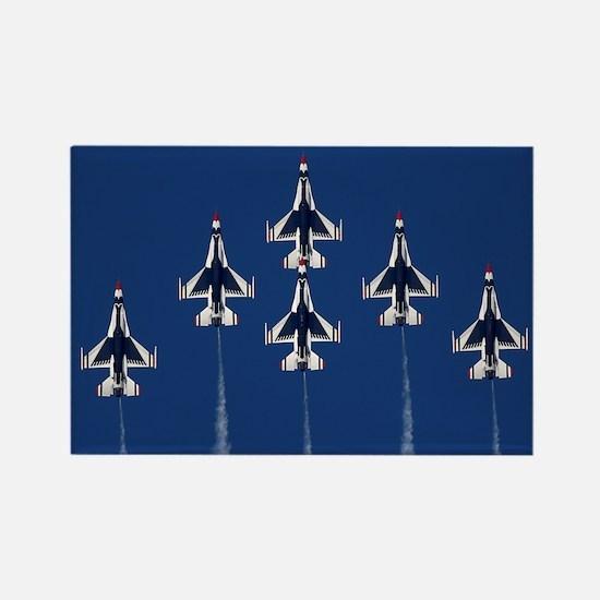 USAF Thunberbirds Rectangle Magnet