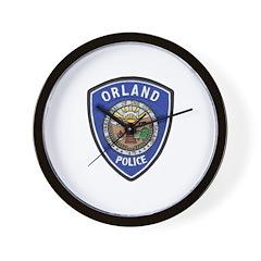 Orland Police Wall Clock