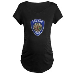 Orland Police Maternity Dark T-Shirt