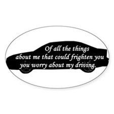 Driving Oval Decal
