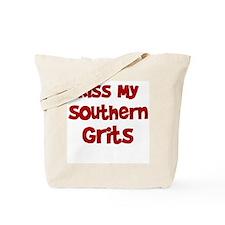 Cute Kiss my grits Tote Bag