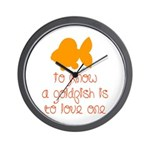 Know, love goldfish. Wall Clock