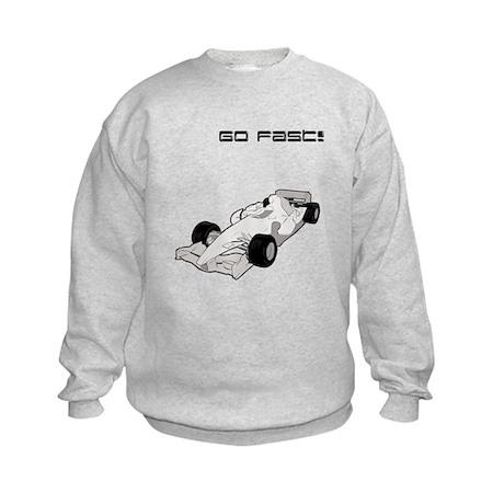 'Go Fast!' Car Kids Sweatshirt