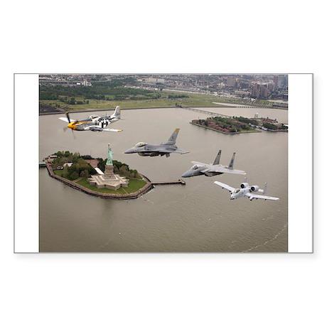 Historic Aircraft Rectangle Sticker