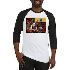 Santa's Dachshund (BT) Baseball Jersey