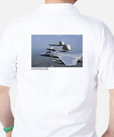 F-22 Raptor F-15 Eagle Golf Shirt