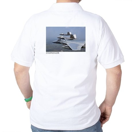 F-22 Raptor F-15 Eagle Golf Shirt