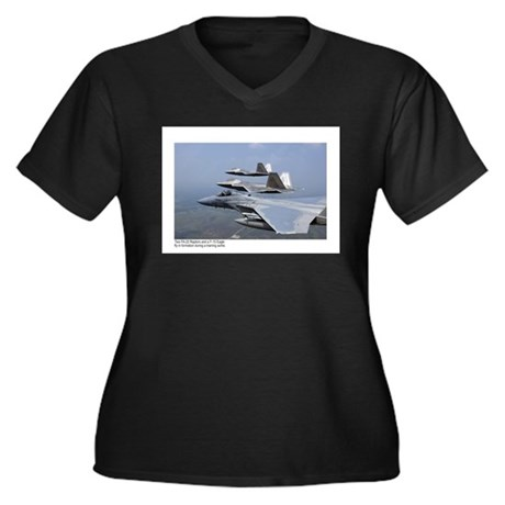 F-22 Raptor F-15 Eagle Women's Plus Size V-Neck Da