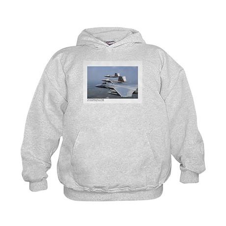 F-22 Raptor F-15 Eagle Kids Hoodie