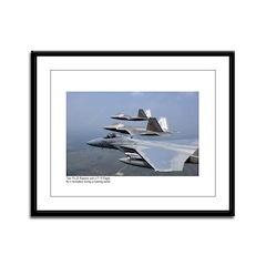 F-22 Raptor F-15 Eagle Framed Panel Print