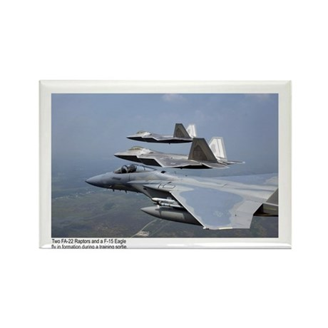 F-22 Raptor F-15 Eagle Rectangle Magnet