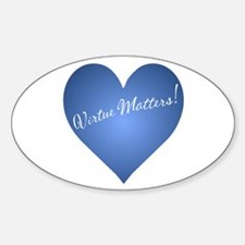 Virtue Matters Oval Decal