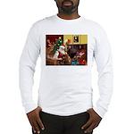 Santa/Two Dachshunds (BB) Long Sleeve T-Shirt