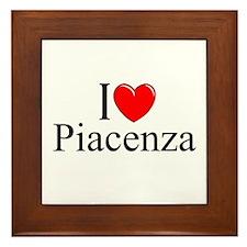 """""""I Love (Heart) Piacenza"""" Framed Tile"""