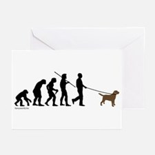 Chocolate Lab Evolution Greeting Cards (Pk of 20)