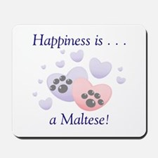 Happiness is...a Maltese Mousepad