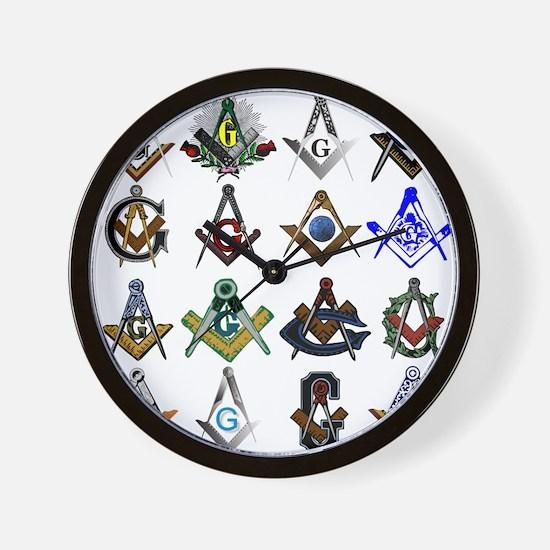 Masonic Square and Compass Wall Clock