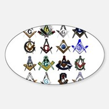 Masonic Square and Compass Decal