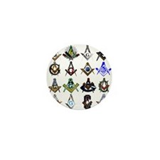 Masonic Square and Compass Mini Button (10 pack)
