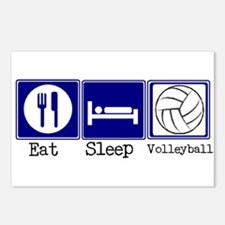 Eat, Sleep, Volleyball Postcards (Package of 8)