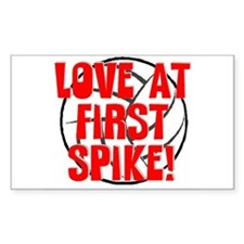 Love at First Spike Rectangle Sticker 10 pk)