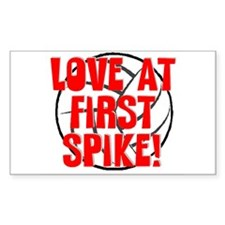 Love at First Spike Rectangle Decal