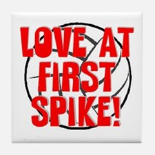 Love at First Spike Tile Coaster