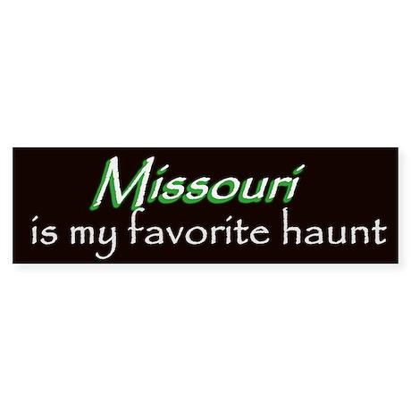 Missouri Haunt Bumper Sticker - Green