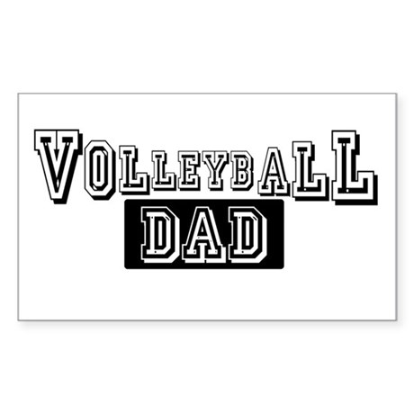 Volleyball Dad Rectangle Sticker