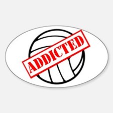 Volleyball Addict Oval Decal
