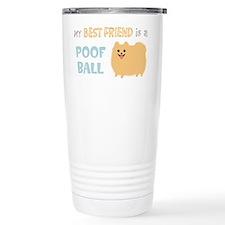 Pomeranian Poof Ball Stainless Steel Travel Mug