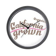 Organic! California Grown Wall Clock