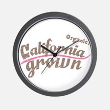 Organic! California Grown Wall Clock