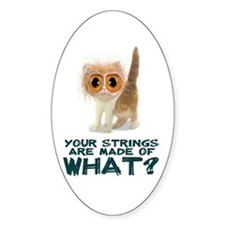 Catgut Strings Shocker Oval Decal