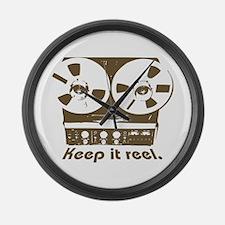 Keep It Reel Large Wall Clock