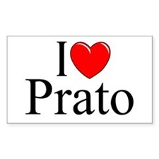 """I Love (Heart) Prato"" Rectangle Decal"