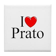 """I Love (Heart) Prato"" Tile Coaster"